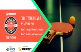 Adult Table Tennis - Bangalore Racketier Championship 3.0