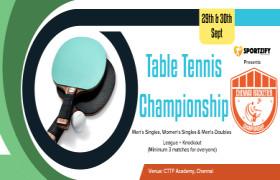 Chennai Racketier Table Tennis Championship - 1st Edition