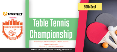 Hyderabad Racketier Table Tennis Championship - 1st Edition