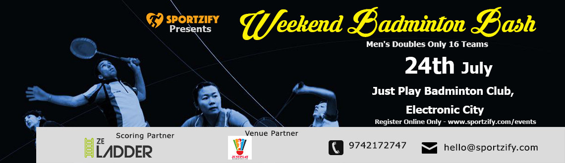 Weekend Badminton Bash July- JustPlay Sports Club