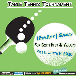 Table Tennis Tournament - Adults & Kids - Decathlon Bannerghatta