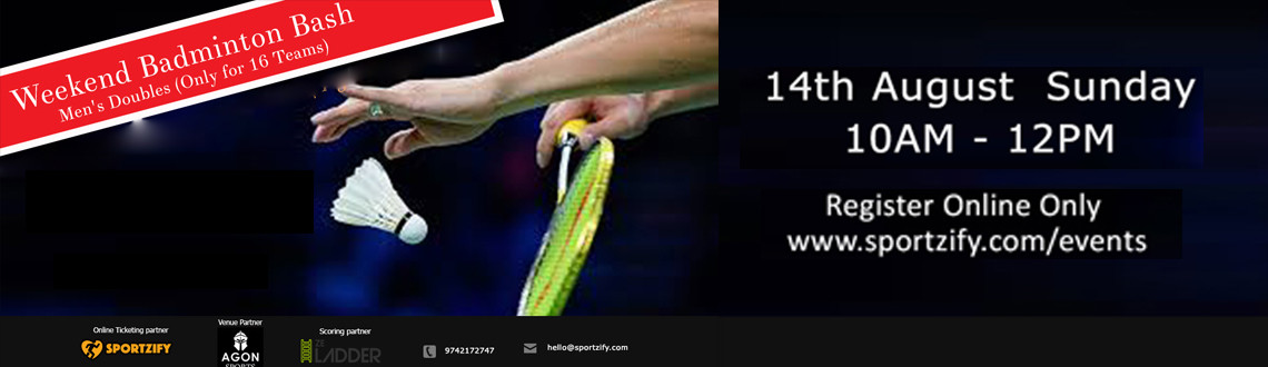 Weekend Badminton Bash - August -Agon Sports