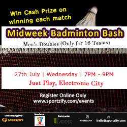 MidWeek Badminton Bash -July- JustPlay Sports Club