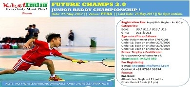 FUTURE CHAMPS 3.0 - Junior Badminton Tournament