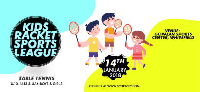 Kids Table Tennis Sports League
