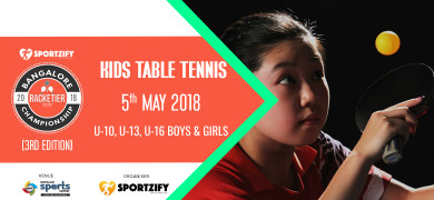 Kids Table Tennis - Bangalore Racketier Championship 3.0