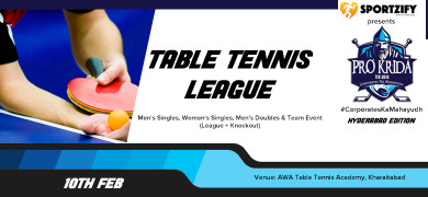 ProKrida Hyderabad Table Tennis League